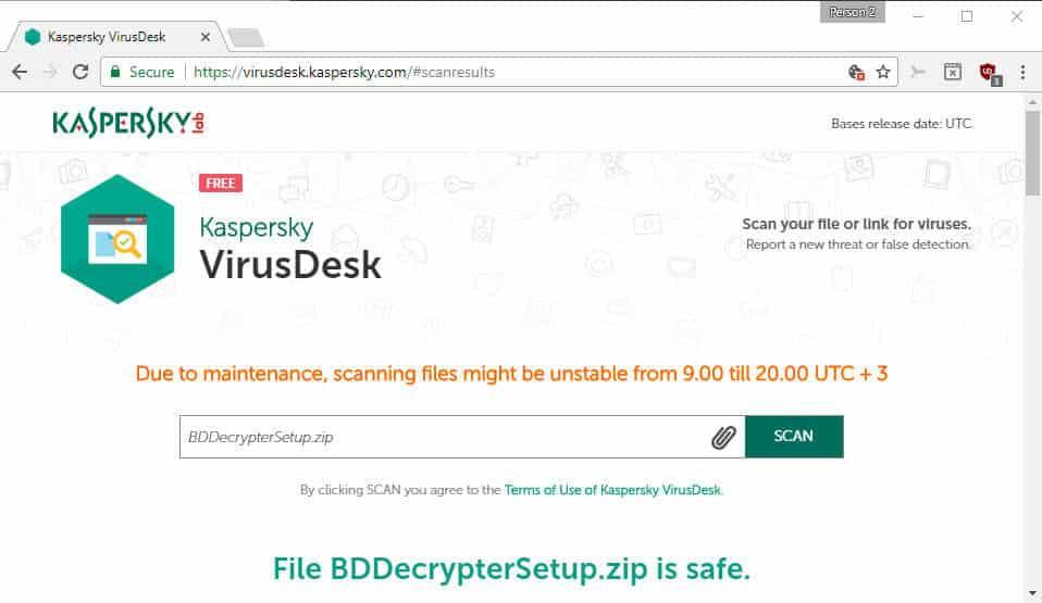 Kaspersky VirusDesk online file and link scanner - gHacks Tech News