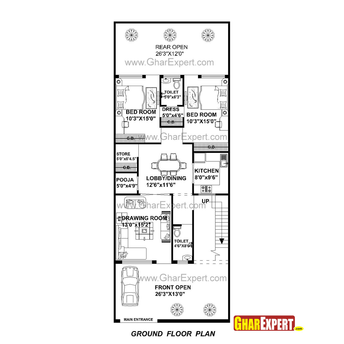 Rectangular House Plans Floor From Auto Hornet 533t Security Wiring Diagrams Plan For 27 Feet By 70 Plot Size 210