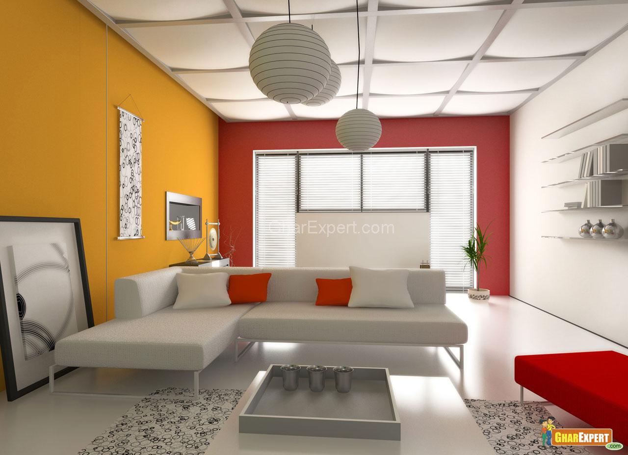 Fall Ceiling Wallpaper Download Living Modern Interior Design Gharexpert