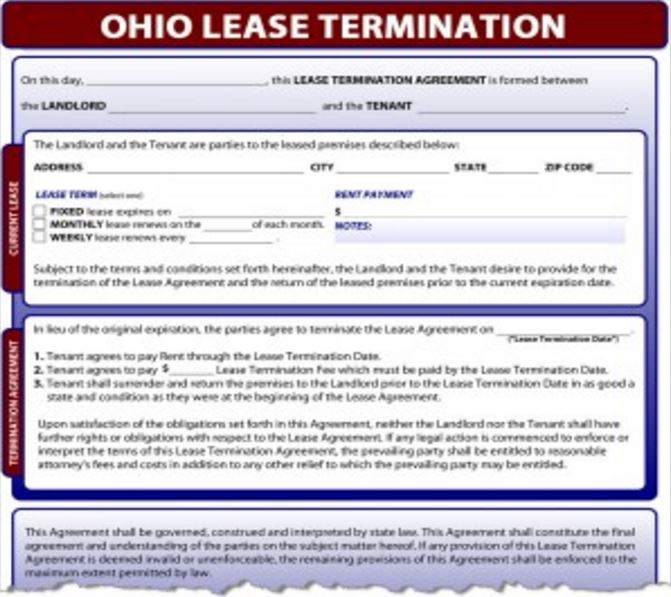 Notice to Terminate Garfield Heights Municipal Court - lease termination notice sample