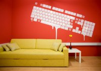 Yellow Couch with Mural Wallpaper Paint - Interior Design ...