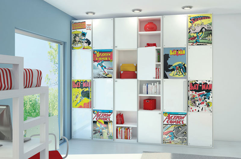 Comic Book Storage With Action Figure Decor Interior