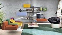Colorful Sofa Furniture Living Room - Interior Design Ideas