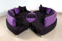 Black and Purple Leather Sofa - Interior Design Ideas