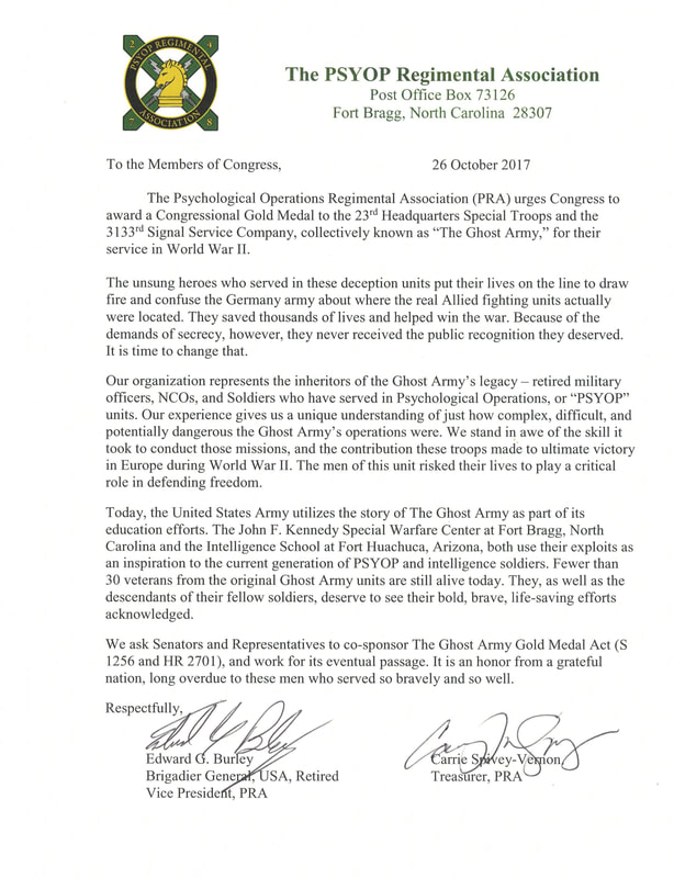 Letters of Support - Ghost Army Legacy Project
