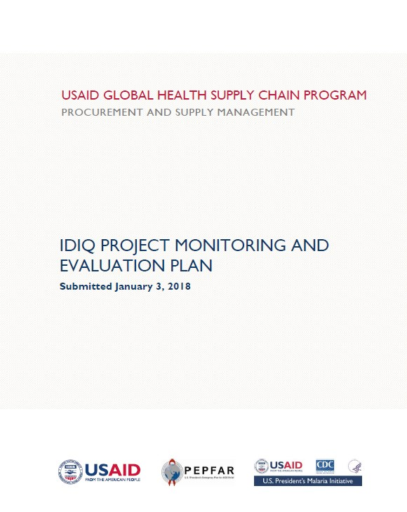 IDIQ Project Monitoring and Evaluation Plan USAID Global Health