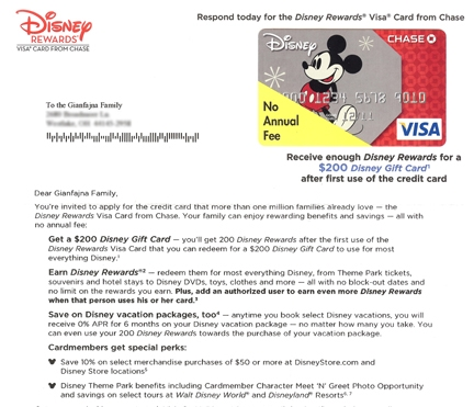 Disney uses direct letter marketing to try to get people to sign - sample marketing campaign