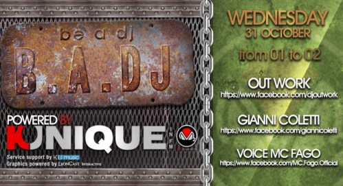 "Kunique ""B.A.DJ"" Radio Show On Radio M2O Guest ""Gianni Coletti"" October, 31th  2012"