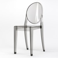 Phantom Occasional Acrylic Stackable Side Chair in Smoke