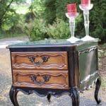 Refinished Vintage Side Table