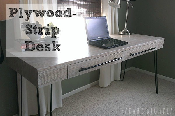 The Most Gorgeous Desk You've Ever Seen – Made From Plywood!!