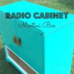 Vintage Radio Cabinet, Upcycled Into A Martini Bar!
