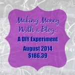 Making Money With A Blog: A DIY Income Experiment – August '14 – $186.39