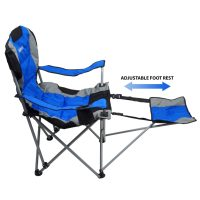 Camping Chair With Footrest, Blue - Gigatent