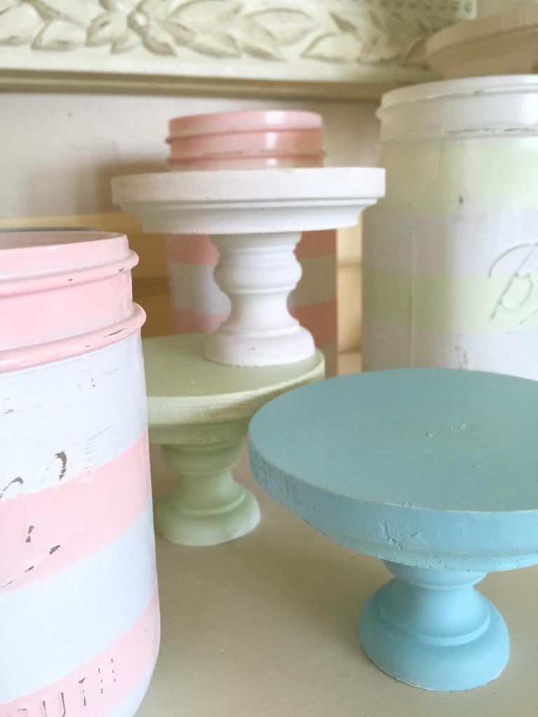 giggle cupcake stands & jars