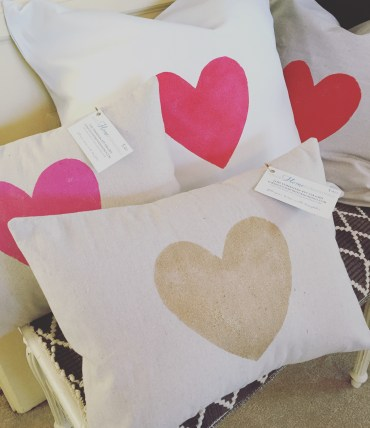 Giggle painted pillows