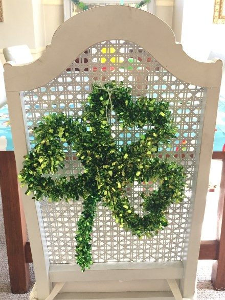 St. Paddy's day chair decoration