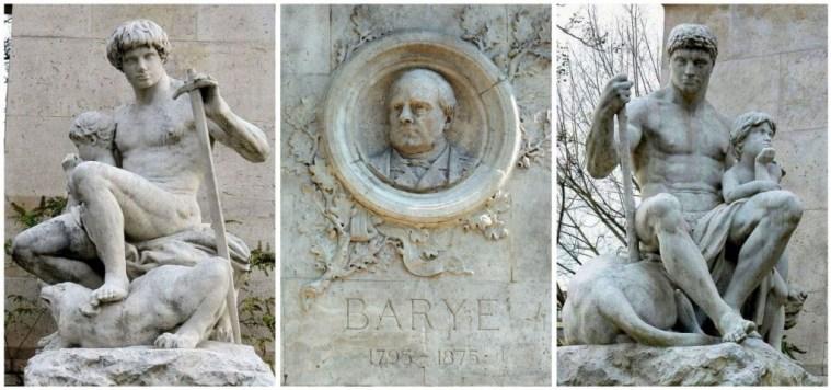 La Force et l'Ordre - monument de Barye - ile Saint Louis Paris