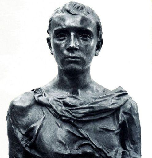 Paul Claudel en jeune romain - bronze de Camille Claudel