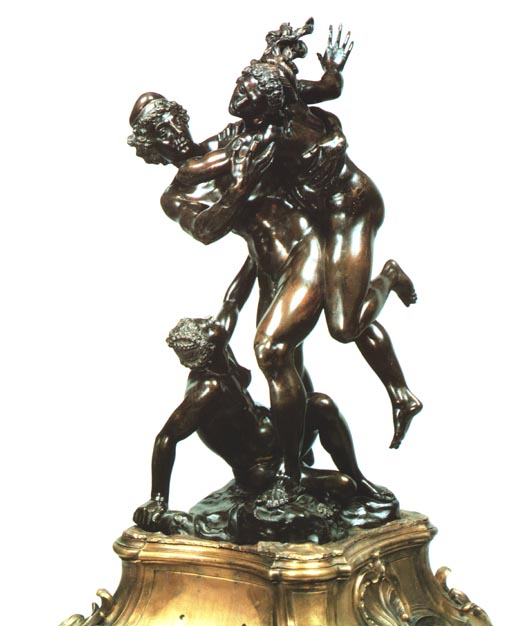 Bronze figures, signed by Susini, dated 1627.