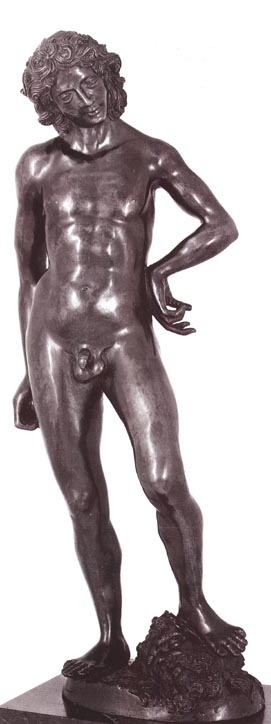 Florentine-style bronze, beginning of the 16th century, representing David. FDC Collection, New York.