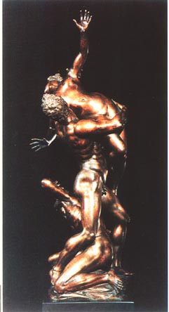 Bronze representing The Rape of a Sabine Woman, Giambologna, 16th century.