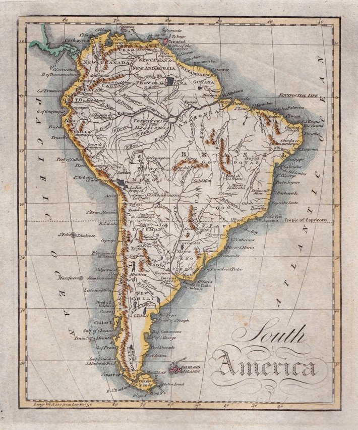 Maps of the South American Continent and South American countries