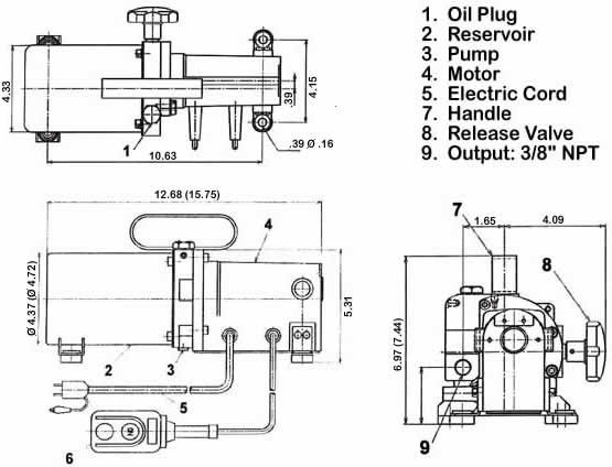 electric hydraulic pump 12v wiring diagram