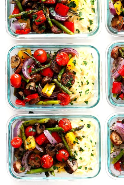 Italian Sausage and Veggie Bowls (Meal Prep) | Gimme Some Oven