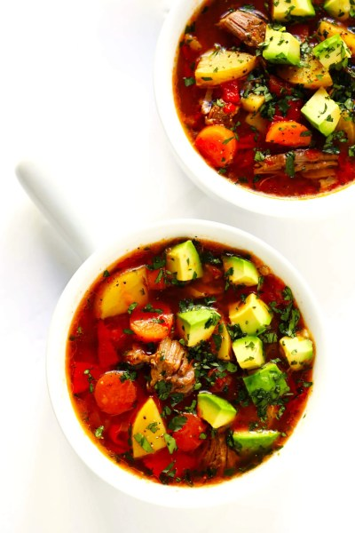 Mexican Vegetable Beef Soup | Gimme Some Oven