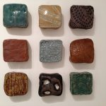 9 ceramic texture tiles by Gina Lee Robbins