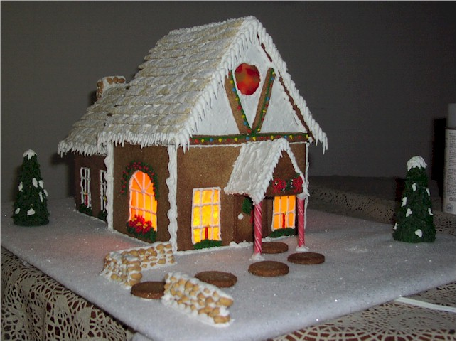 Gingerbread House Windows can be made a number of ways