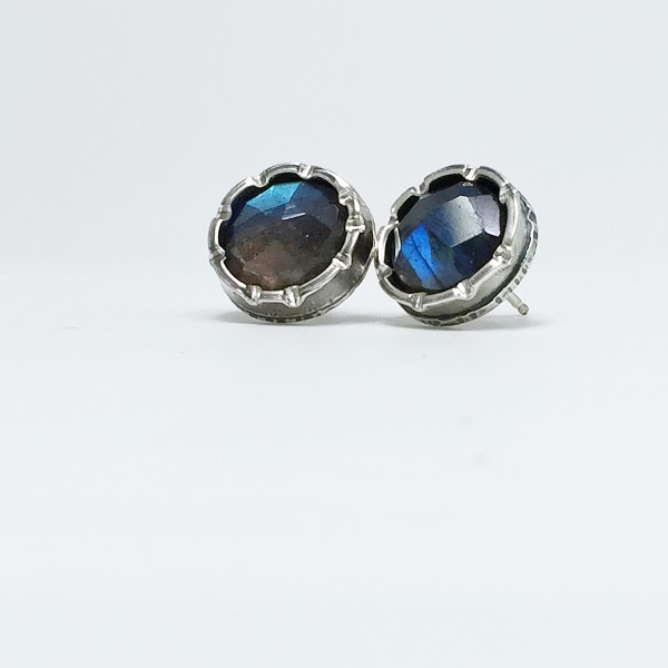 Fancy Studs with Labradorite