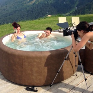 Backstage in jacuzzi