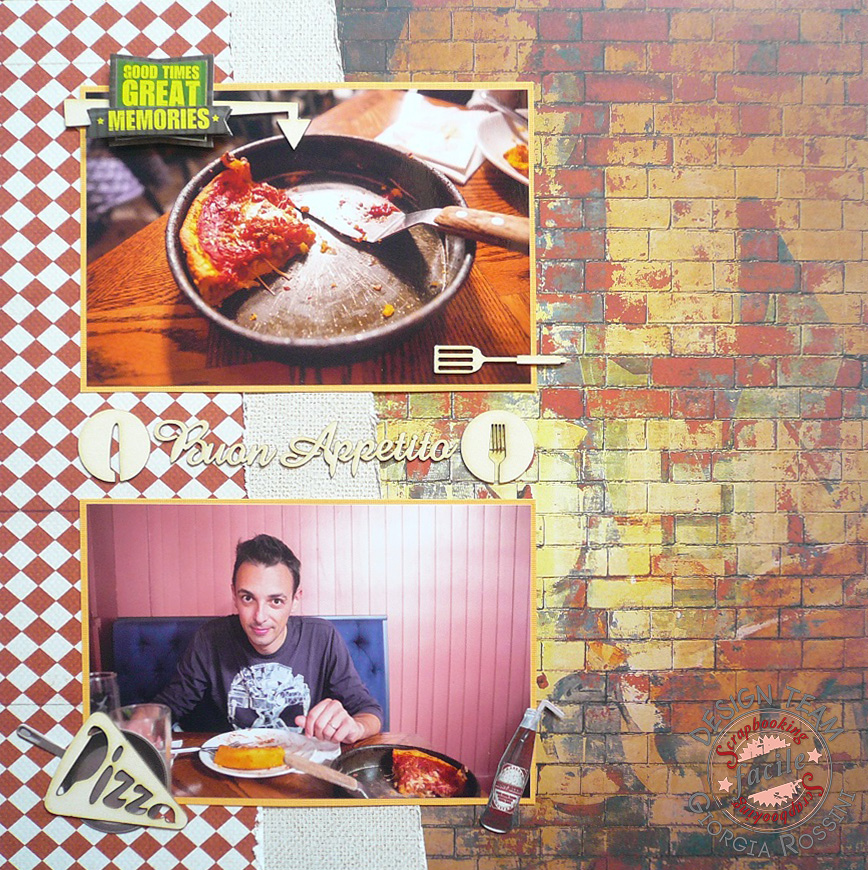 "Giorgia Rossini for Scrapbooking Facile - ""buon appetito"" layout"