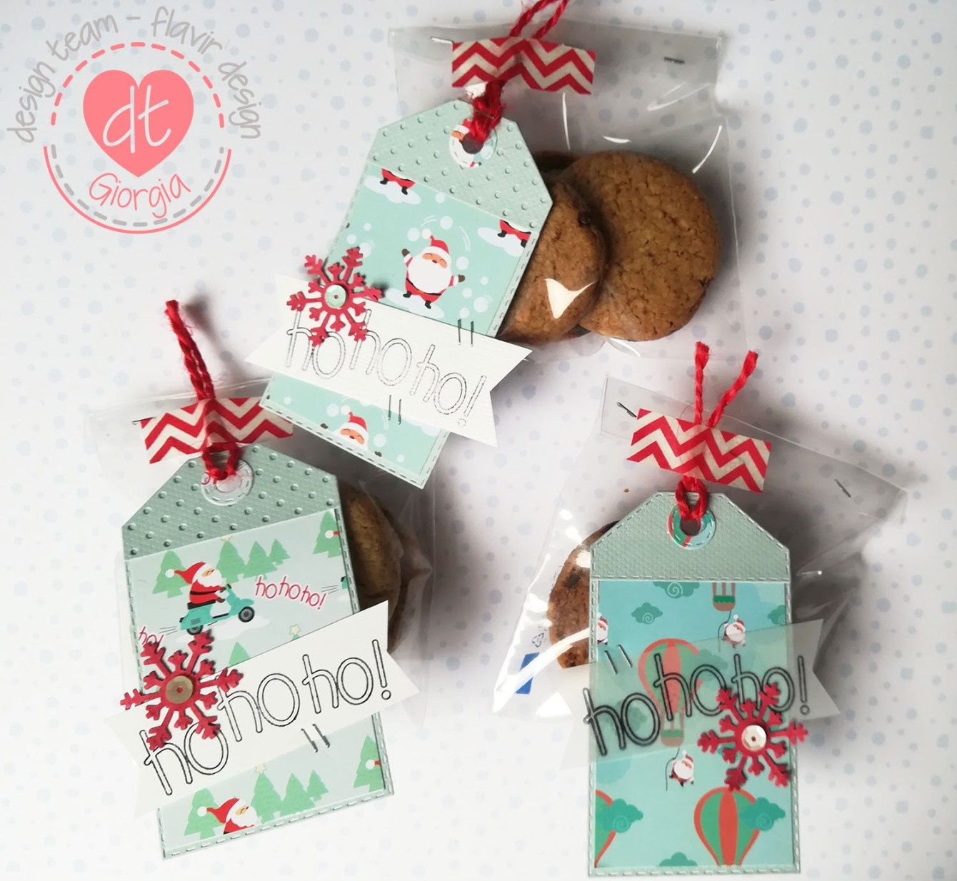 My first project for Flavir Design: I loved baking the cookies and creating the tags with the cute Flavir Design products.