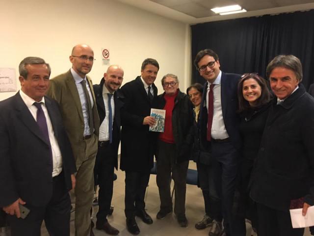 Presidente Matteo Renzi a Parma con il nostro partigiano Soemo Alfieri