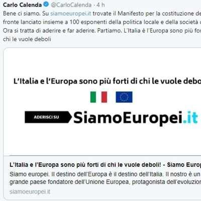 Manifesto Carlo Calenda