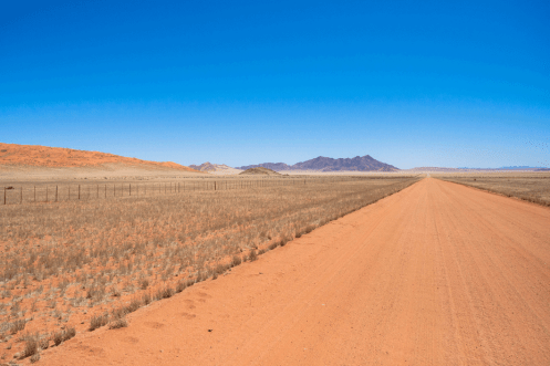 Auf der D707, Namibia