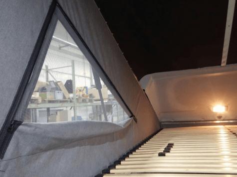 Aufstelldach von X-Vision-X einbauen: Die Fenster