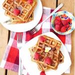 Raspberry Buttermilk Waffles