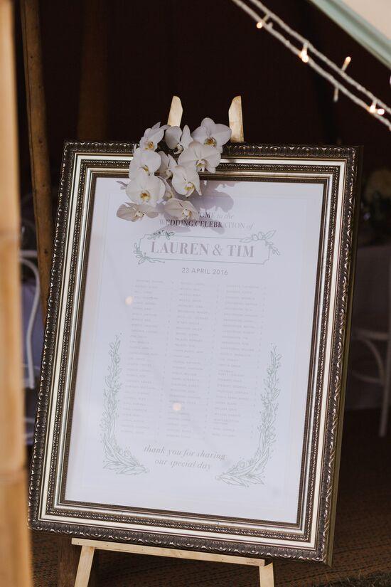 Wedding Seating Chart Easel Hire Wedding Signs Girl Friday Weddings