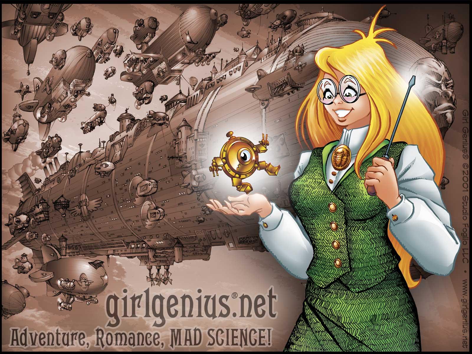 Free Download Wallpaper Anime Girl Girl Genius Online Comics