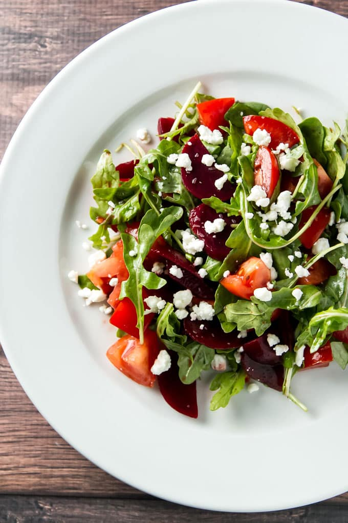 Tomato and Pickled Beet Salad | girlgonegourmet.com