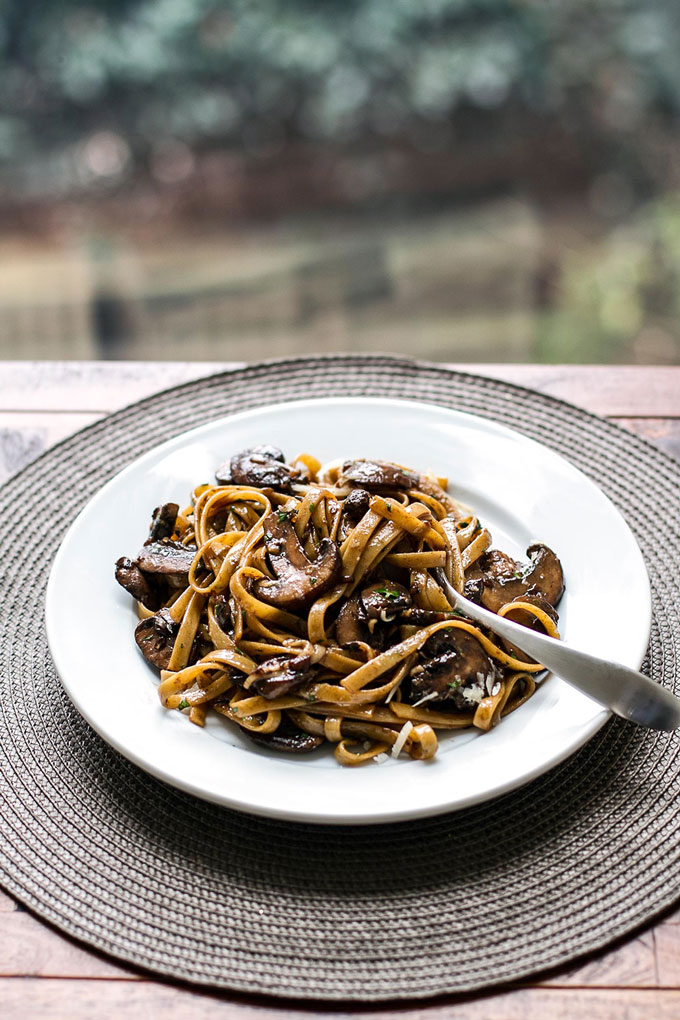 Balsamic Mushroom Pasta   girlgonegourmet.com