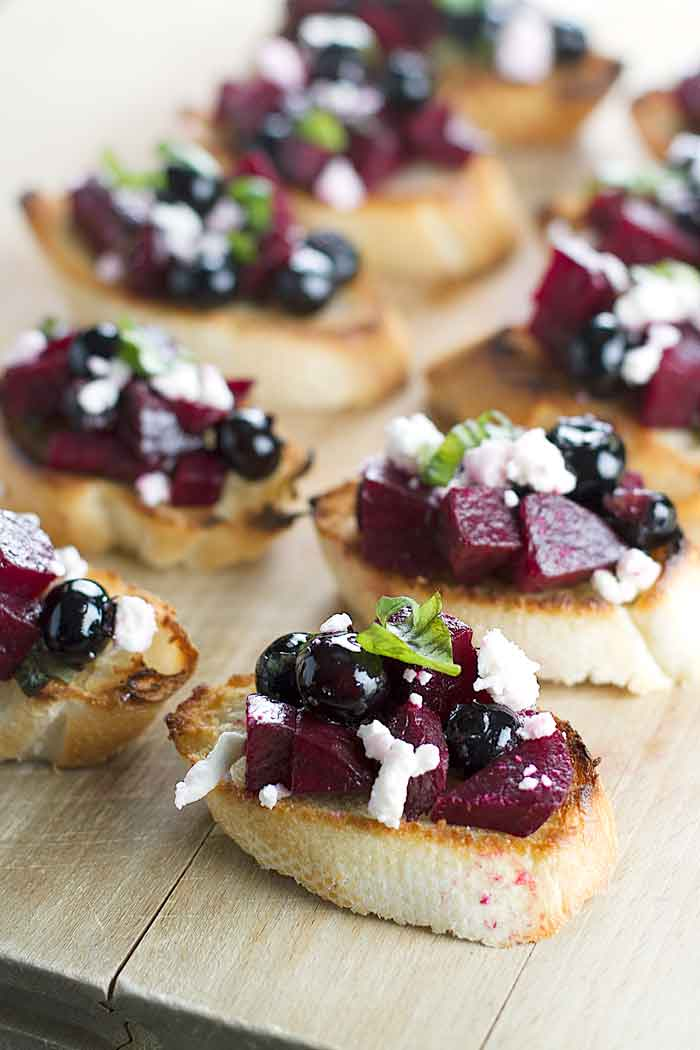 Fresh Blueberry Dessert Bruschetta Recipes — Dishmaps