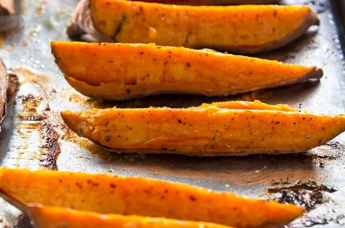Roasted Sweet Potato Wedges | girlgonegourmet.com