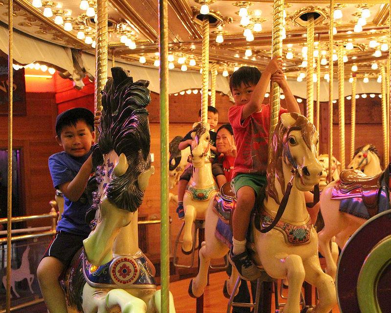 on carousel