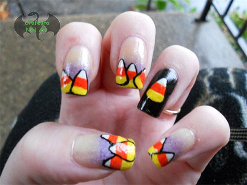 Best Scary Halloween Nail Art Designs Ideas Pictures