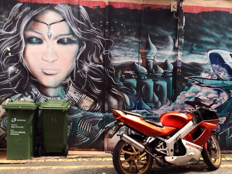 Street art spotted off Haji Lane